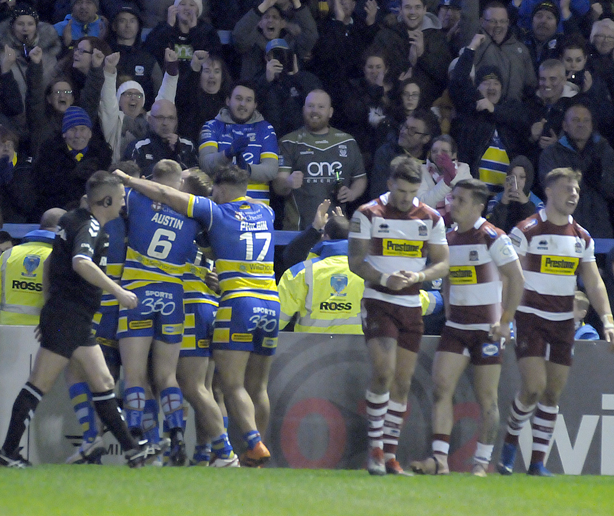 Warrington and Wigan have already met once this season. Picture by Mike Boden