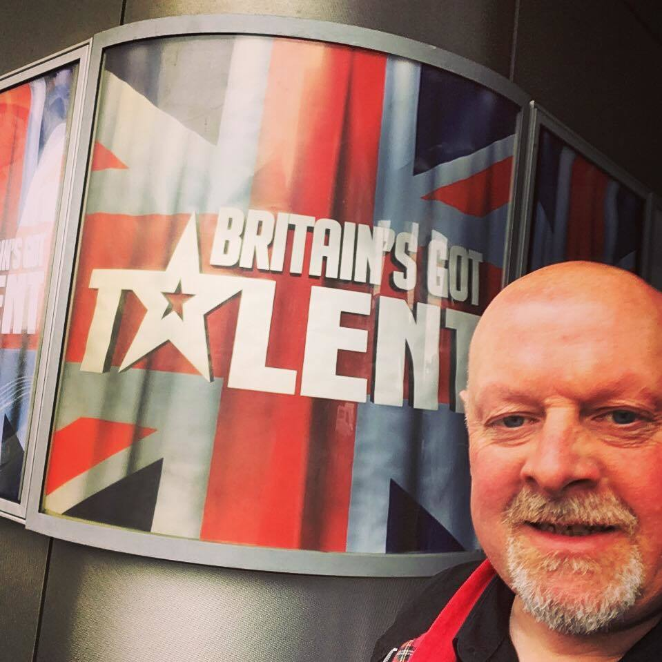 Jason Mannion on the set of Britain's Got Talent