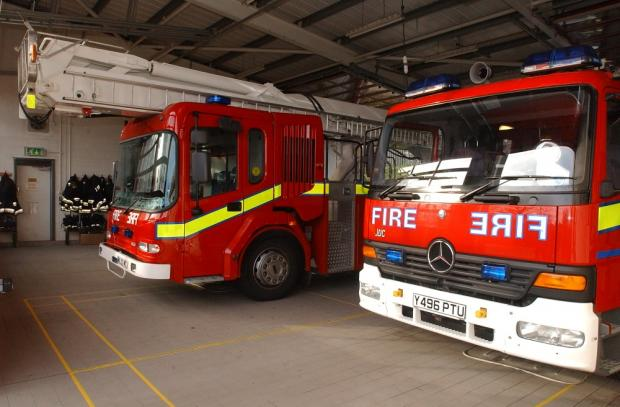 Firefighters from Leigh called to Burtonwood blaze