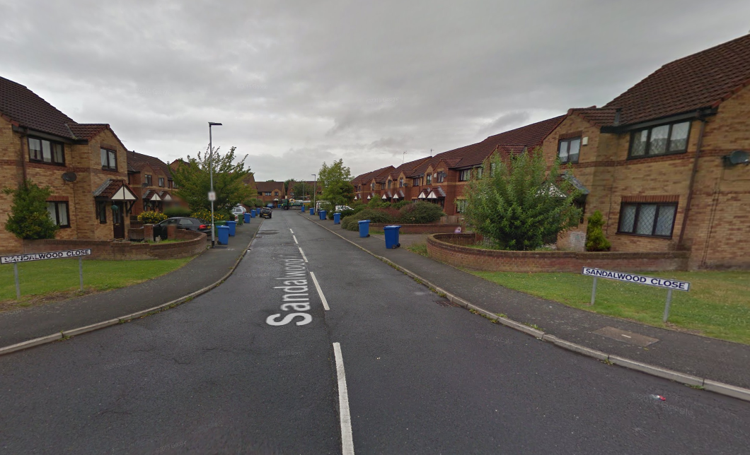 Police were called to Sandalwood Close in the early hours of Saturday. Picture by Google Maps.