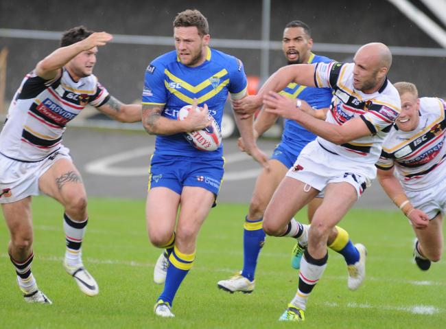 Simon Grix, during his final playing season with Warrington Wolves. Picture: Mike Boden