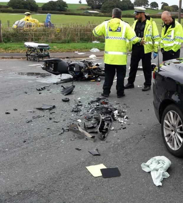 Warrington Guardian: The scene after the crash