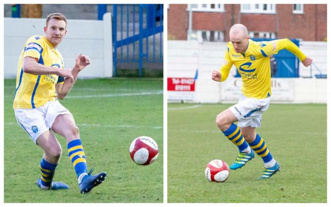 Mark Roberts and Tony Gray are staying with Warrington Town. Pictures by John Hopkins