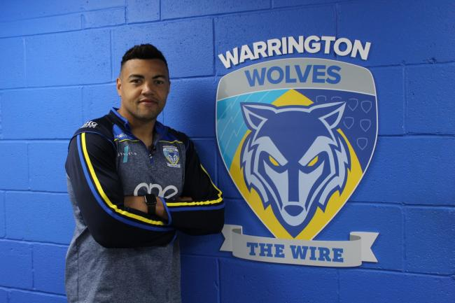 Luther Burrell reporting for duty at The Halliwell Jones Stadium. Picture: Warrington Wolves