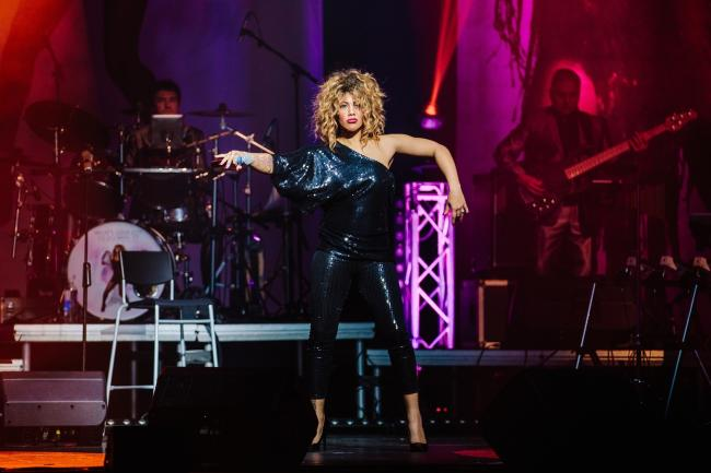 Elesha Paul Moses as Tina Turner. Visit parrhall.culturewarrington.org for tickets