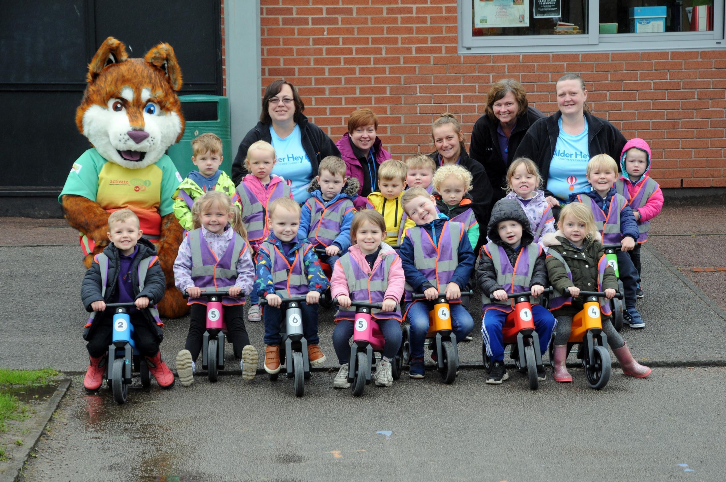 Preschool biking for Jacob Harrison's brain tumour surgery